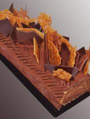 buche chocolat praliné feuilletté