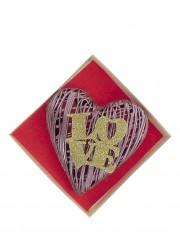 coeur dentelle : garni de chocolats et confiseries